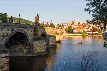 View on the Charles Bridge in Prague