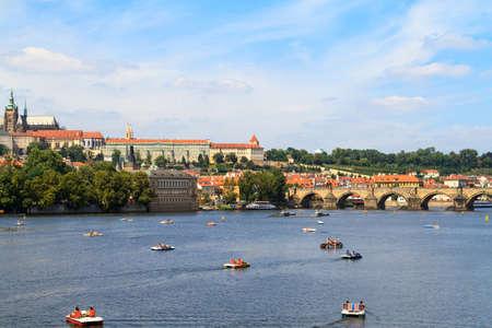 View on the Charles Bridge in Prague