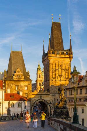 View on old-town bridge tower in Prague, Czech Republic. 08.082017