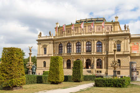 Prague, Czech Republic, 08. August 2017: The view on a gallery and concert building in Prague, Czech Republic. Editorial