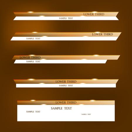 下の茶色と白のバナーの 3 番目のデザイン テンプレート。  イラスト・ベクター素材