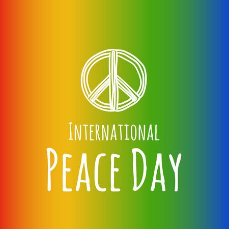 Peace symbol - pacific. Vector hand drawn sketch illustration