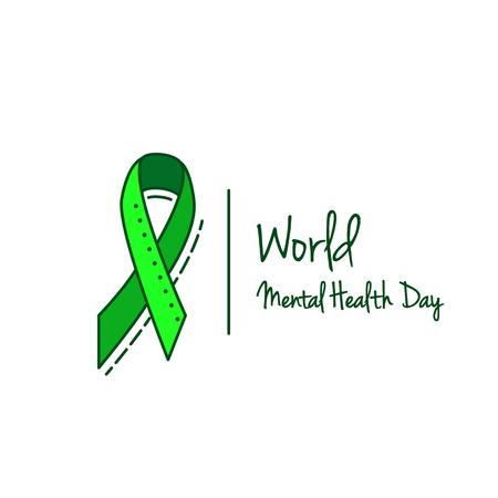 정신 건강, B 형 간염 및 간암 또는 비호 지킨 림프종 인식 Green Ribbon Background. 일러스트
