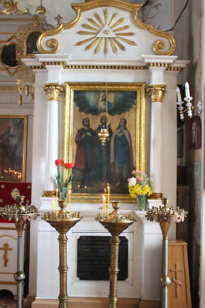 iconostasis: holy  iconostasis in the old orthodox church