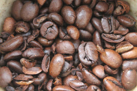 brown big coffee beans 写真素材