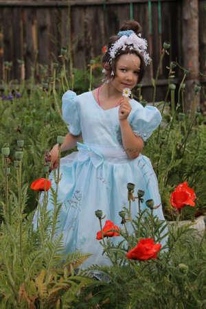 girl in beautiful dress