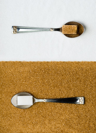 Color contrast between white sugar and brown