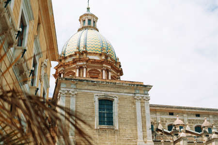 View Of Historical Center Of Palermo city center 写真素材