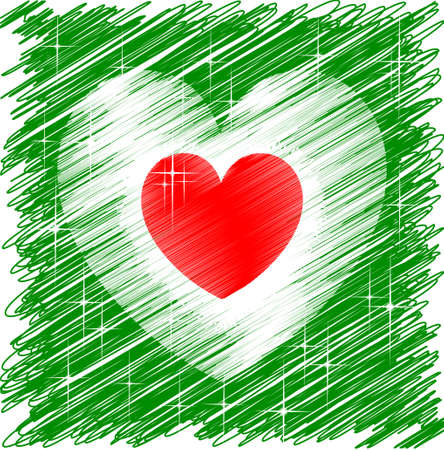 Italian Heart Stock Vector - 12822423