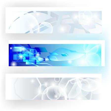 Banner gravi nei colori grigio e blu utili per sito web aziendale Vettoriali