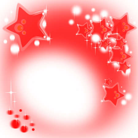 Red Christmas background with stars and shining bubbles Stock Photo - 13356265