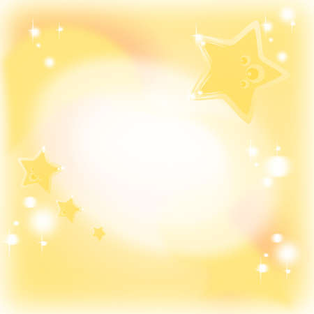 Golden background with magic and dreamy stars and shining useful for Christmas wishes, invitation, birth wish, birthday card Stock Photo - 13356255