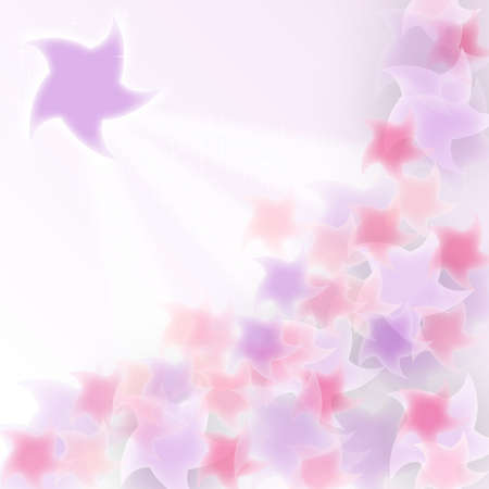 Purple romantic stars in magic background photo