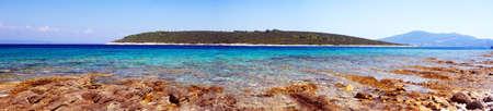 Mare paesaggio panoramica da Isola di Korcula in Croazia