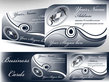 2 different classy Business cards with icon and text Stock Vector - 14272227