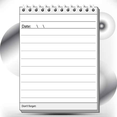 affairs: Block notes page lined in black and white shades