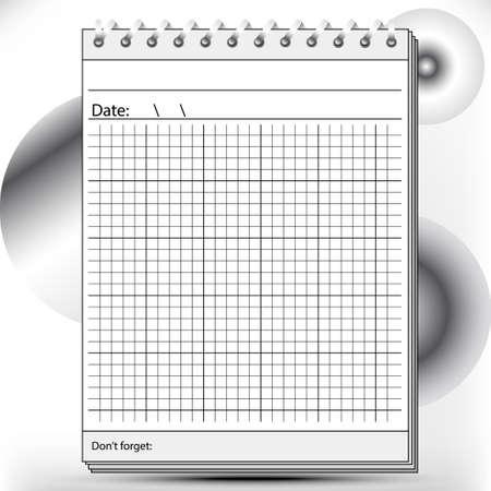 Block Notes aritmetici in toni chiari e scuri