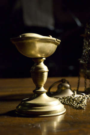 Bronze chalice in Saint Sylvester church in Italy - Crevalcore photo