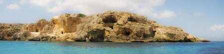 Panoramica di Favignana roccioso Sicilia Italia