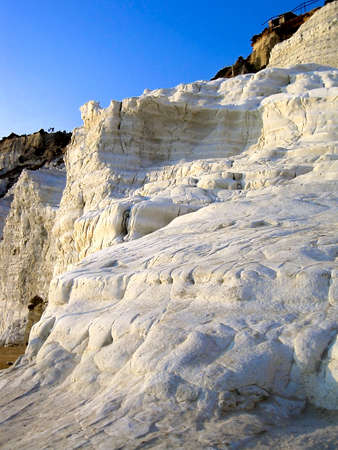 Suggestive landscape at Scala dei Turchi - Turkish stairs Agrgento Italy