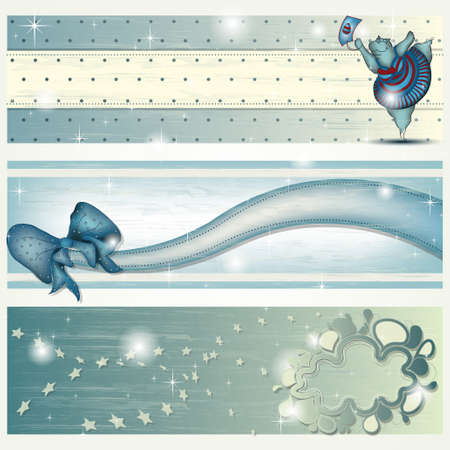 Banner with Dancing Hippo, Ribbon and abstract Cloud Stock Vector - 18032515