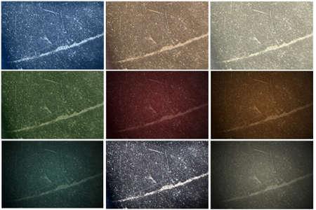 9 texture di pietra in diversi colori, sfumature e si fondono