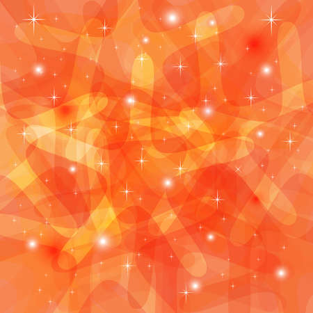 Shining Abstract Orange Background with stars Stock Vector - 18786518