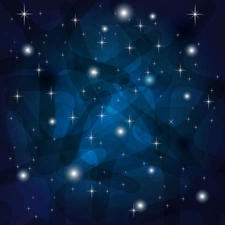 Shining Abstract Dark Blue Background with stars Stock Vector - 18786528