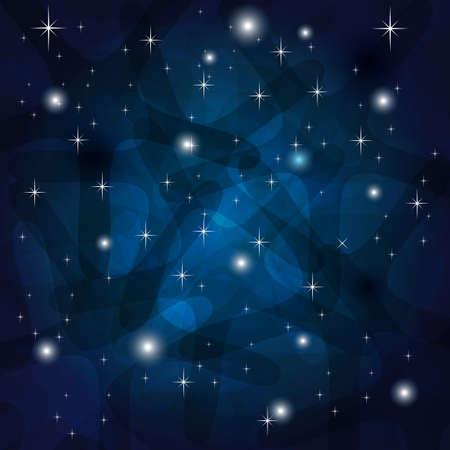 Splendente Astratto Sfondo blu scuro con stelle Vettoriali