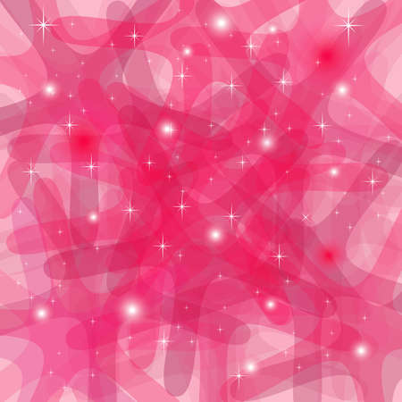 Splendente Abstract sfondo rosa con stelle