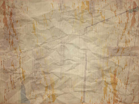 creased: Creased paper with stain and wood effect in light shade Illustration