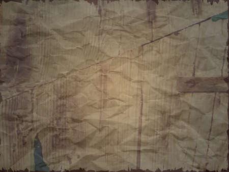 Carta increspata con effetto legno in tonalità scura, bordi strappati