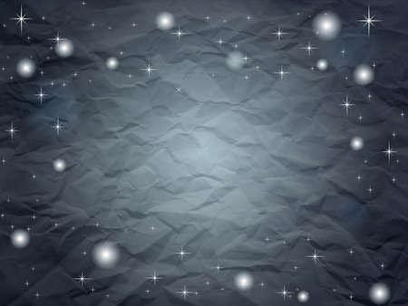 Carta increspata in tonalità blu scuro con le stelle Vettoriali