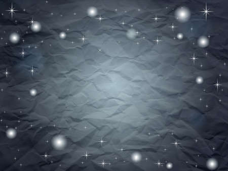 Creased paper in dark blue shades with stars