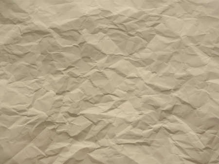Creased paper in ecru beige shades Illustration