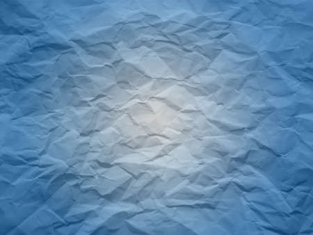 Creased paper in blue shades Illustration