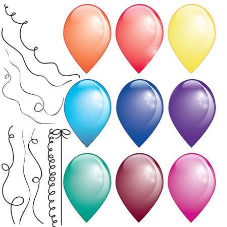 9 mongolfiere colorate in sfondo bianco, con ad esempio le discussioni
