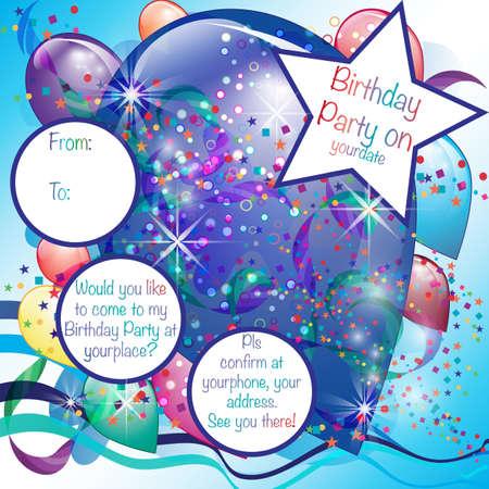 Colorful Balloons Invito Partito per Boy