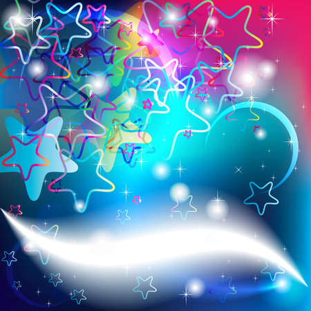 Stars Background for Party Cards and Christmas wishes Illustration