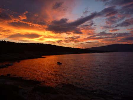 Incredibile tramonto a isola di Hvar
