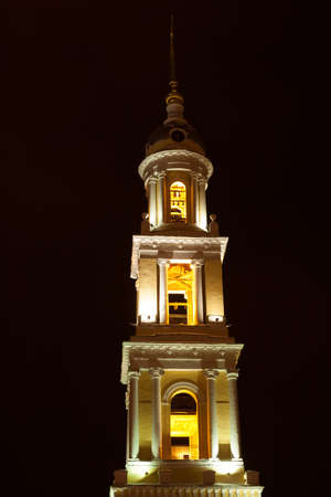 Kolomna, Moscow Region, Russia. Church of John Theologian Near With Ivanovo Gate Kolomna Kremlin. Church In Kolomna In Near Old Kolomna On Square Two Revolutions. Stock Photo