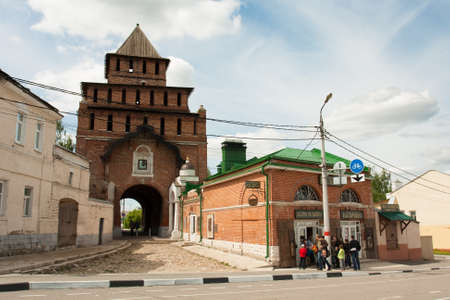 Kolomna, Russia - May 22, 2017: Kolomna Kremlin Of Pyatnitsky Gate And Museum Kalach In Kolomna, Moscow Region. Spring.
