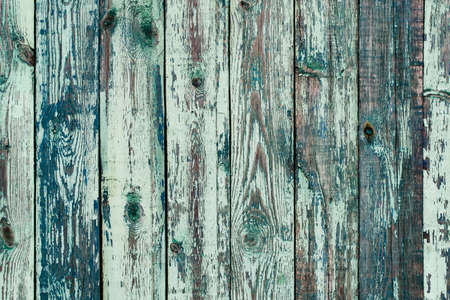 Abstract Background Texture Of Wall Of Old Wooden Wood With Obsolete Paint Surface Blue Color. Stock fotó