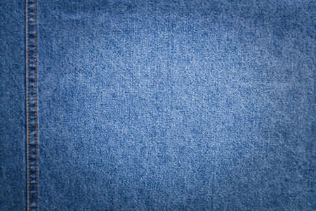Blue Fabric Jeans With Copyspace For Text In Center On Blurred Background Around For Design. Reklamní fotografie