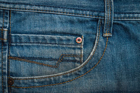 Jeans. Blue Pants Jeans Textured Background With Pockets.