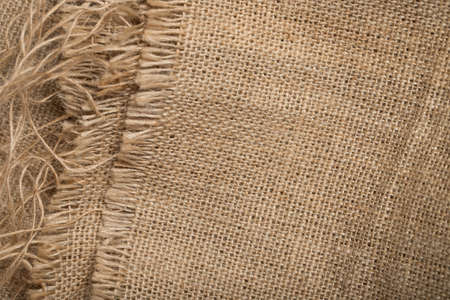 Sackcloth. Rough Cloth Sackcloth Background Brown Color For Design. Close Up.