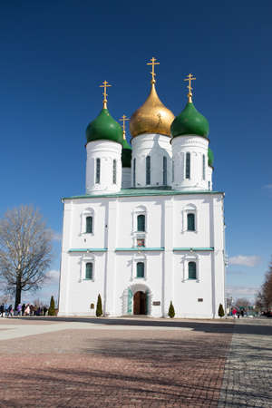 Orthodox Church. Assumption Cathedral On Cathedral Square On Blue Sky In Spring In Kolomna, Russia.