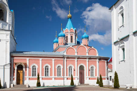 Kolomna, Russia. Church Of Theotokos Of Tikhvin On Cathedral Square In Sunny Day Under Blue Sky On Spring. 版權商用圖片