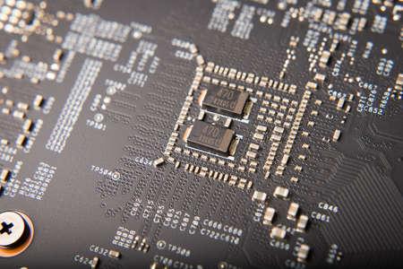 Close Up Of Detail Of Modern Computer Video Card. Stock fotó