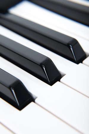 Black And White Piano Keys In Musical Studio Close Up. Foto de archivo